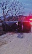 Direksiyon hakimiyetini kaybeden araç sürücü hayatını kaybetti