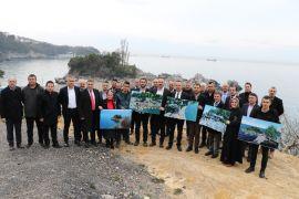 Dr. Ömer Selim Alan, Orta Kapuz Plaj tesisi projesini yerinde tanıttı
