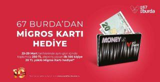 Esas 67 Burda AVM'den ilk 100 kişiye alışveriş kartı