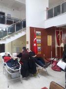 Kan bağışına Çaycuma MYO öğrencilerinden tam destek