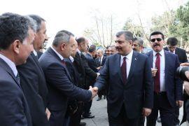 Sağlık Bakanı Koca, hastane inşaatını inceledi