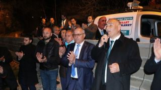 Şahin Kıyıcak'da sloganlar ile karşılandı