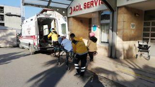 Soba gazından etkilenen bir kadın hastaneye kaldırıldı