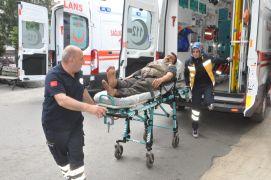 Ayağının üzerinden vagon geçen madenci yaralandı