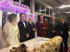 Başkan Selim Alan ilk nikahını kıydı