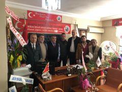 Gazeteciler Derneği'nden Mandacı'ya ziyaret