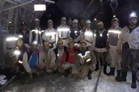 Maden ocağındaki tatbikat gerçeğini aratmadı