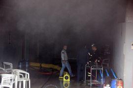 Otelin kazan dairesindeki yangın kısa süreli paniğe yol açtı