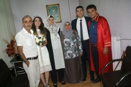 Devrekli muhtar polis oğlunun nikahını kıydı
