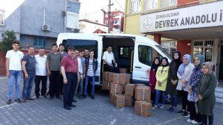 Devrekli öğrencilerden ihtiyaç sahibi ailelere gıda yardımı