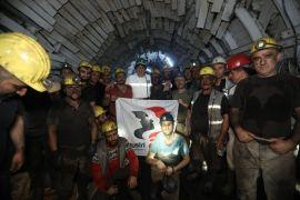 Küresel Sendika Genel Sekreter Yardımcısı Kemal Özkan, madende iftar açtı