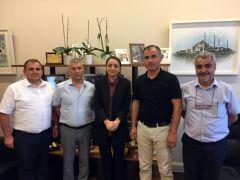 GMİS yöneticileri Başdanışman Saadet Oruç ile görüştü