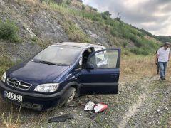 Otomobil refüje çarptı: 1yaralı