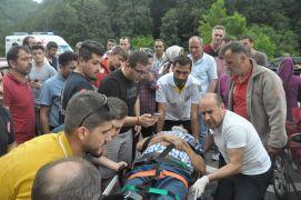 Zonguldak'ta meydana gelen kazada 1'i ağır 5 kişi yaralandı