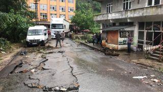 Zonguldak'ta sel etkili oldu