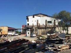 Fındık fabrikasında ki yangının hasarı gün ağarınca ortaya çıktı