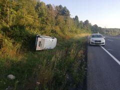 Yoldan çıkan araç takla attı: 1 yaralı