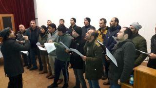 Madenci korosu EMİTT fuarı vereceği konsere hazırlanıyor