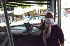 Halk Otobüslerinde dezenfekte çalışmaları sürüyor