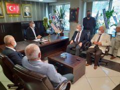 Kaymakam Çorumluoğlu, siyasi partileri ziyaret etti