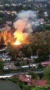 Trafo patladı, mahalle elektriksiz kaldı