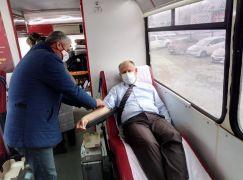 Kaymakam Çorumluoğlu kan bağışı kampanyasına destek verdi