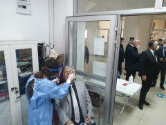 Kdz. Ereğli Belediyesi personeline Covid 19 testi yapılıyor