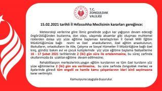 Zonguldak'ta eğitime, hamile ve engellilere kar engeli