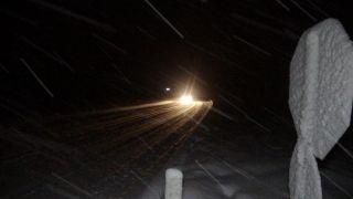 Zonguldak'ta kar şiddetini arttırdı, uzun araçlara geçiş yasaklandı