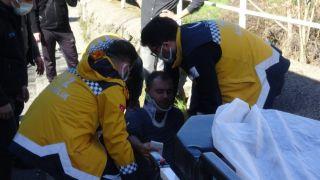 Motosiklet kaldırıma çarptı: 1 yaralı