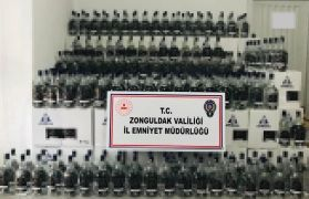 Zonguldak'ta bin 150 litre etil alkol ele geçirildi