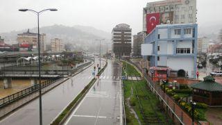 Zonguldak'ta kısıtlama günü sokaklarda sessizlik