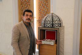(Özel) Erdoğan'ın açılışını yapacağı camiye Mescid-i Aksa figürlü Kur'an-ı Kerim hediyesi