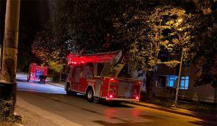 Şömine görüntüsü yangın sanılan ev bu kez gerçekten yandı