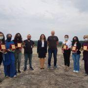 Covid-19 ile mücadelede görev alan sağlık çalışanlarına plaket ve başarı belgesi